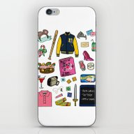 iPhone & iPod Skin featuring Mean Girls by Shanti Draws