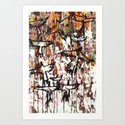 Splatter Birds Art Print