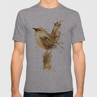 Mr Wren Mens Fitted Tee Athletic Grey SMALL