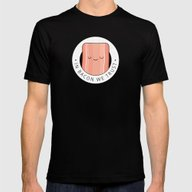 In Bacon We Trust Mens Fitted Tee Black SMALL