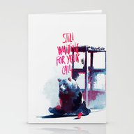 Stationery Cards featuring Waiting For You Call by Robert Farkas