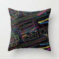 ness control pattern Throw Pillow