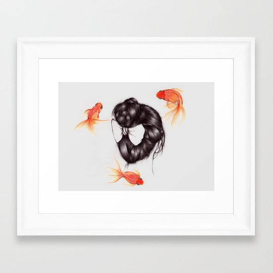 Hair Sequel II Framed Art Print