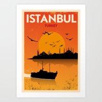 Vintage Istanbul Poster Art Print