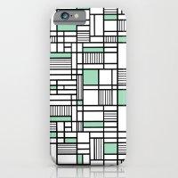 Map Lines Mint iPhone 6 Slim Case