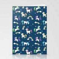 Unicorns And Rainbows - … Stationery Cards