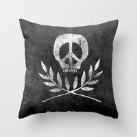 Peace Is Death Throw Pillow