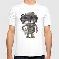 Musicbot Mens Fitted Tee White SMALL