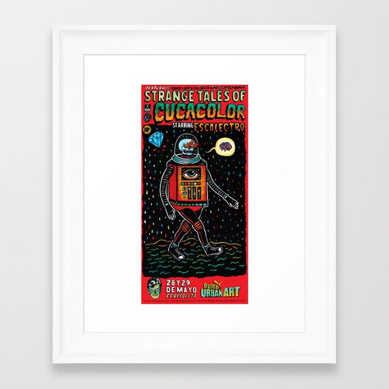 strange tales of cucacolor Framed Art Print