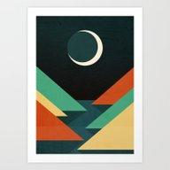 Quiet Stream Under Cresc… Art Print