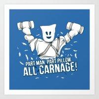 All Carnage! Art Print