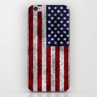 USA Grunge Flag iPhone & iPod Skin