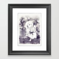 Princess And The Weasel Framed Art Print