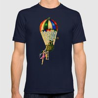BALLOON LOVE: Flying Awa… Mens Fitted Tee Navy SMALL
