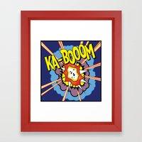 Ka Boom Pop Art Framed Art Print