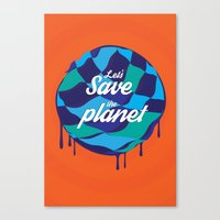 let's save the planet Canvas Print
