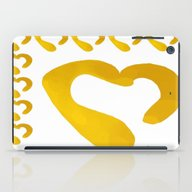 Gold Hearts On White - L… iPad Case