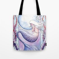 Deep Sea Mermaid Tote Bag