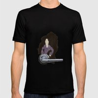 The Door Knob Lady Mens Fitted Tee Black SMALL
