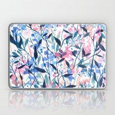 Wandering Wildflowers Blue Laptop & iPad Skin