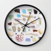 Ocean Study No. 2 Wall Clock