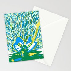 Guitar Explosion Stationery Cards