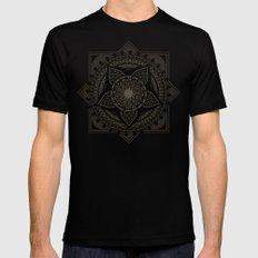 Mandala Mens Fitted Tee SMALL Black