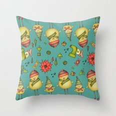 Two Chicks Pattern Throw Pillow