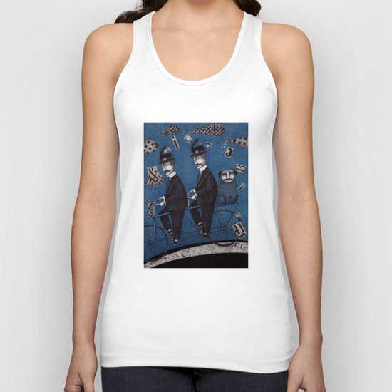 Two Men Travelling Unisex Tank Top