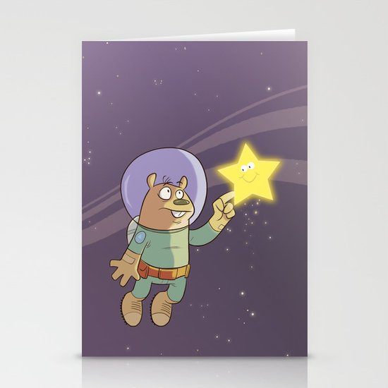 Star Shine Stationery Card