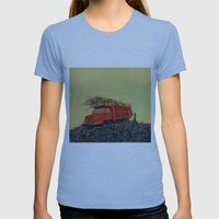 sugar cane and truck on fire Womens Fitted Tee Athletic Blue SMALL