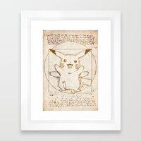 Vitruvian Mon Framed Art Print