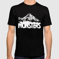 Monsters ( The Living Mountain ) Mens Fitted Tee Black SMALL