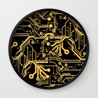Techno Organic  Wall Clock