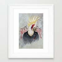 ROCK & ROLL BIRD!! Framed Art Print