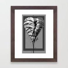 Razor Blade Romance (Black and White Version) Framed Art Print
