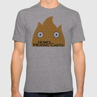 Howl Castle Poster Mens Fitted Tee Athletic Grey SMALL