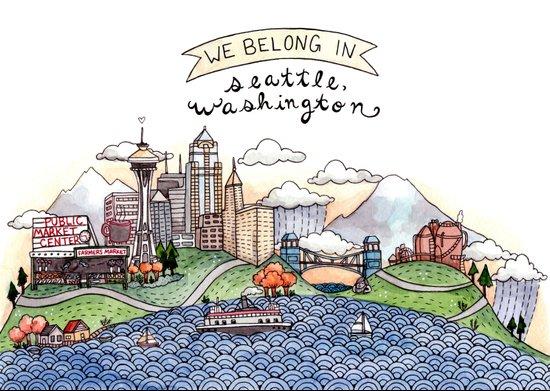 We Belong in Seattle Art Print