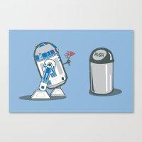 Robot Crush Canvas Print