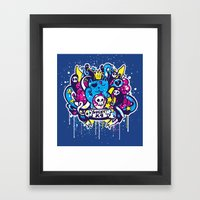 Unlucky Kitty Framed Art Print
