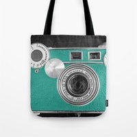 Teal Retro Vintage Phone Tote Bag