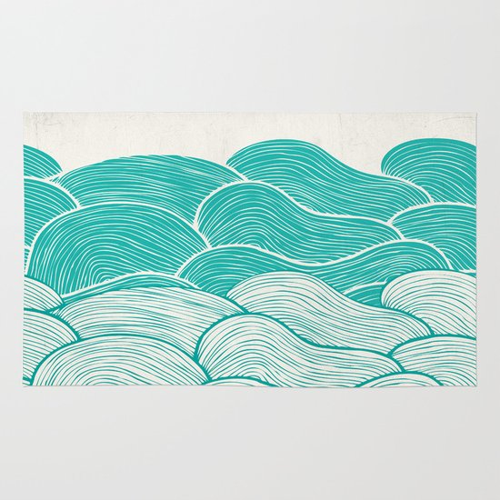 The Calm and Stormy Seas Area & Throw Rug
