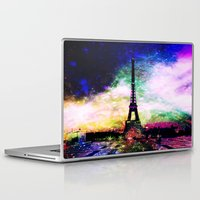 eiffel Laptop & iPad Skins featuring eiffel tower by haroulita