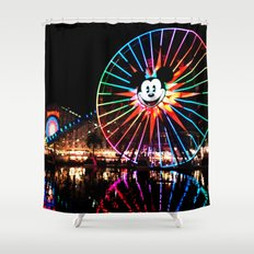 Paradise Pier at Night Shower Curtain