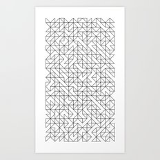 BW TRIANGLE PATTERN Art Print