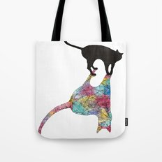 The Cat and Its Shadow Tote Bag