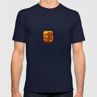 ABSTRACT - Abundance Mens Fitted Tee Navy SMALL