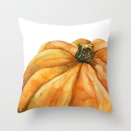 Throw Pillow featuring Pumpkin by Cindy Lou Bailey