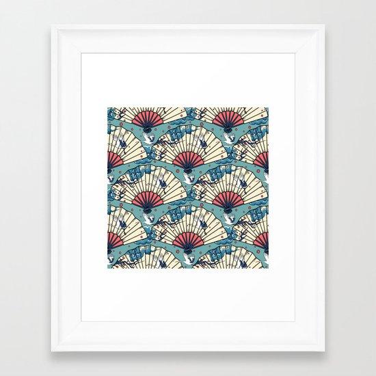 Oriental FanTasy Framed Art Print
