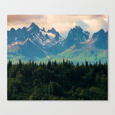 Escaping from woodland heights Canvas Print